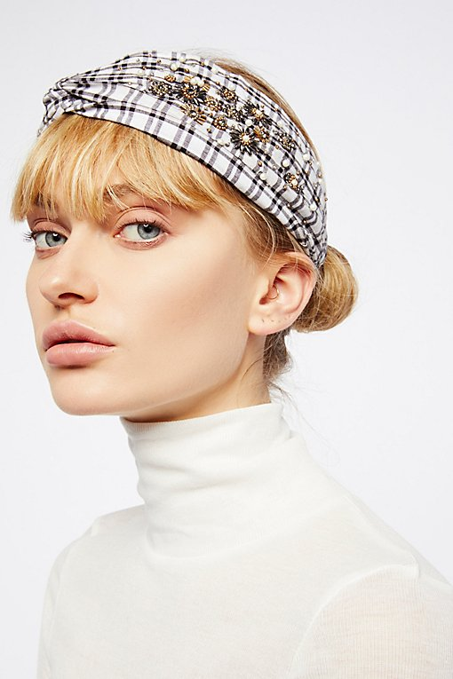 Product Image: Embellished Plaid Turban