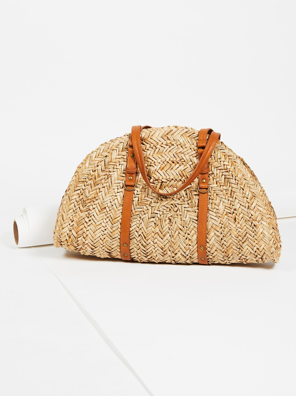 Shop the Half Moon Straw Tote
