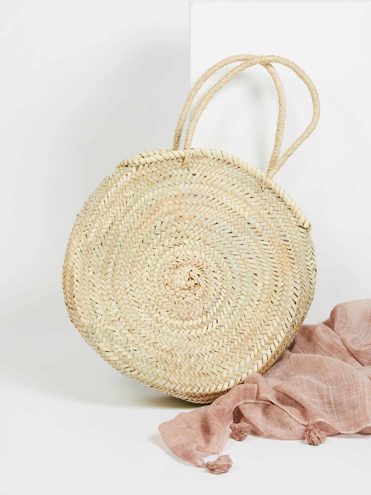 Marrakech Straw Basket Bag