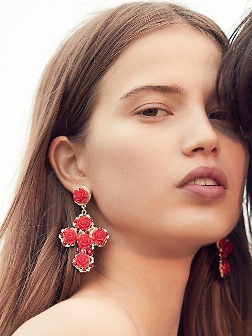 Product Image: Rose Cross Statement Earrings