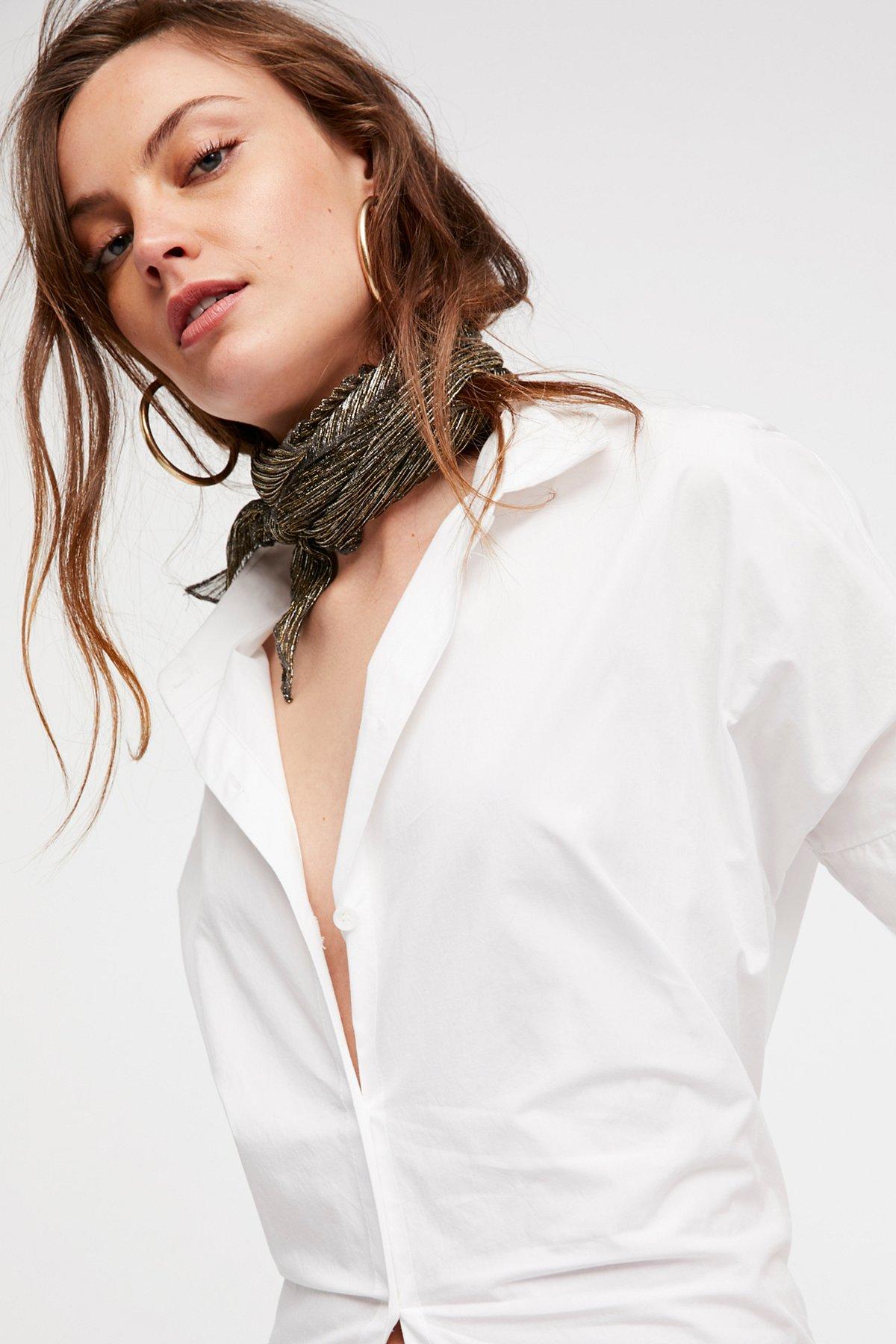 Roxy闪光褶皱围巾