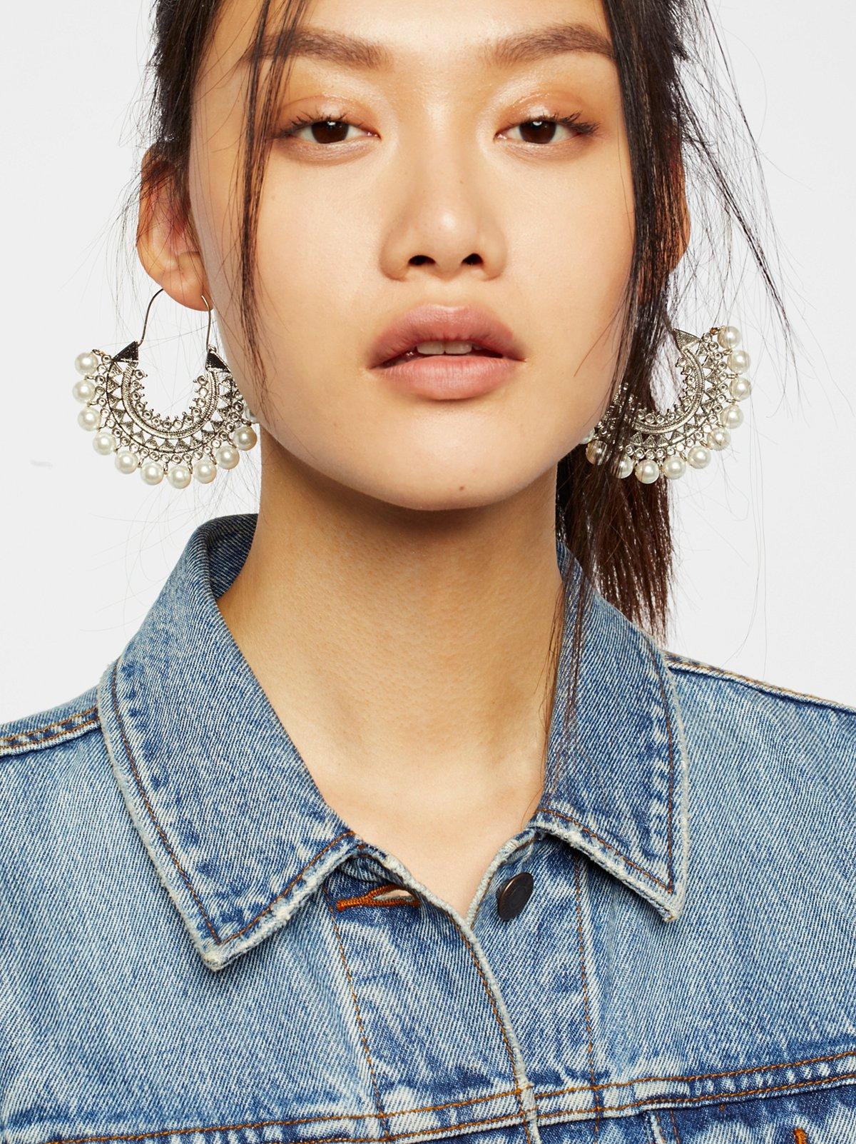 珠光宝石耳环