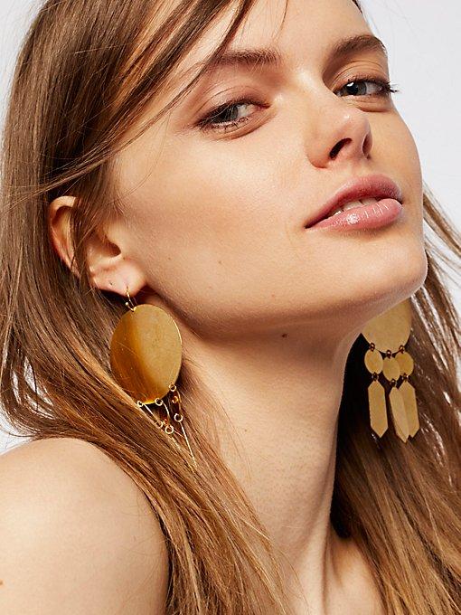 Product Image: Hyun几何金属片耳环