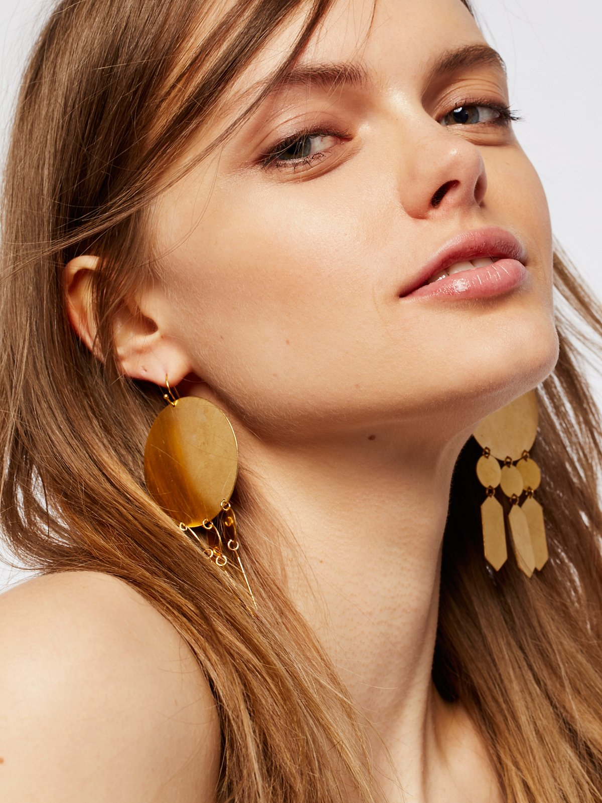Hyun Geometric Plate Earrings