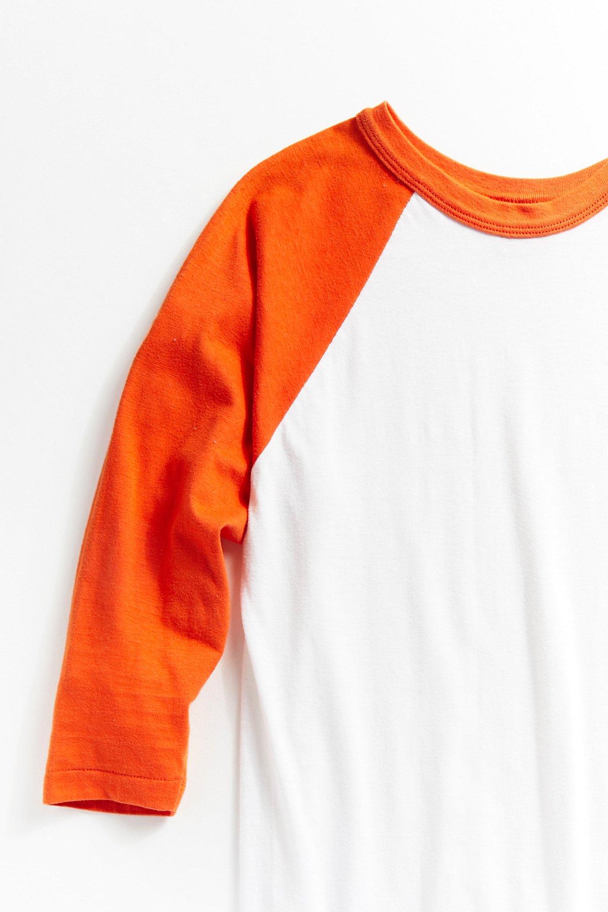 Vintage 1970s Orange Raglan