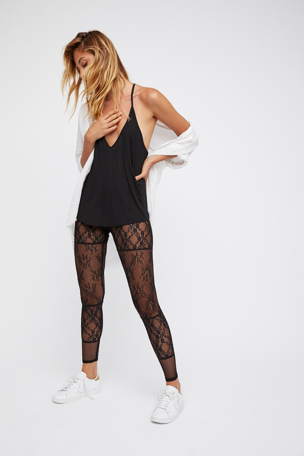 Sheer Bliss Lace Leggings