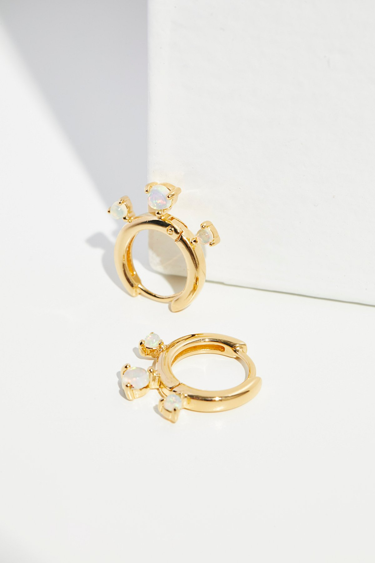 14k Dreamer Opal Mini Hoops