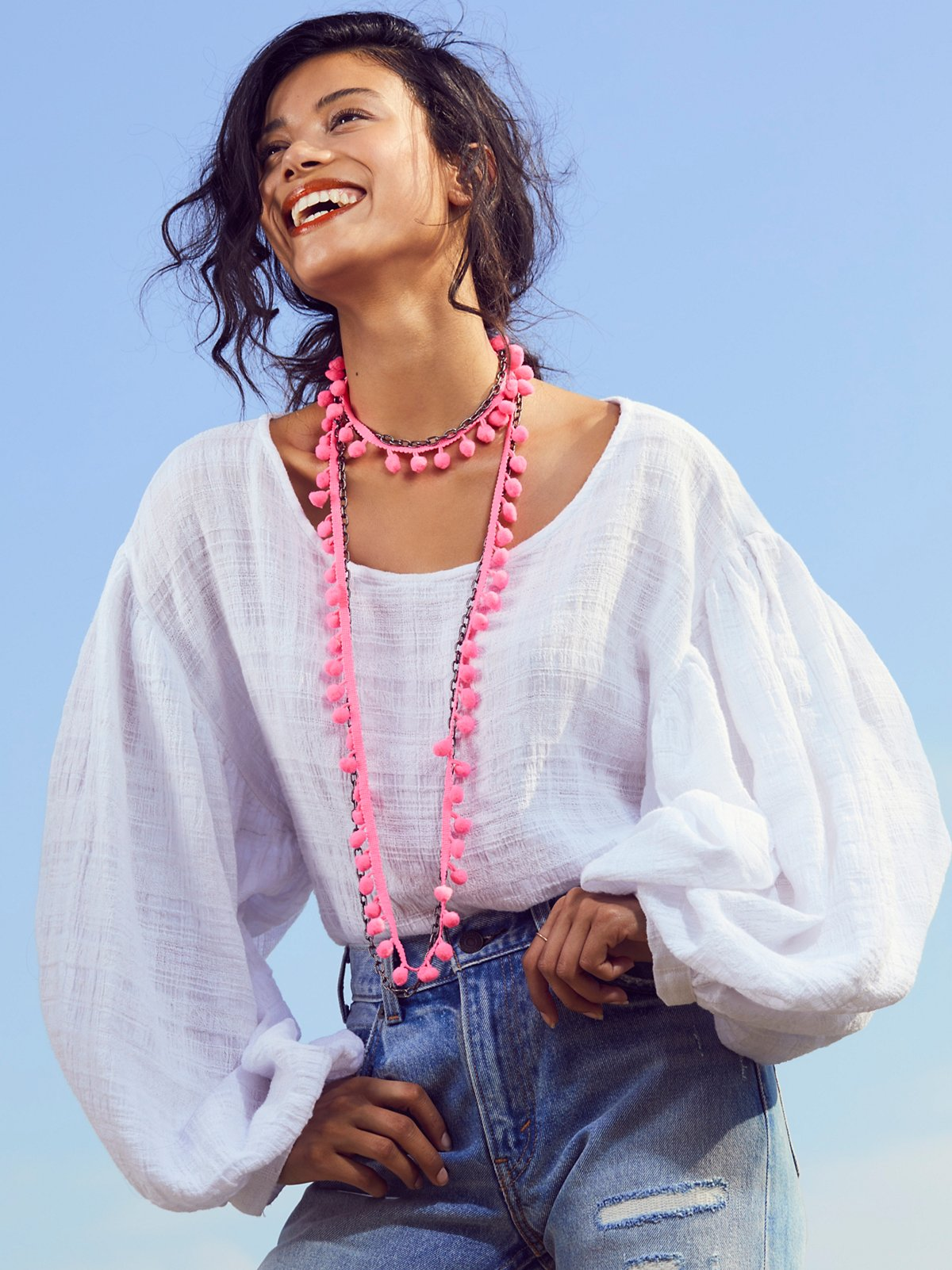 Summer Dreaming Pom Necklace