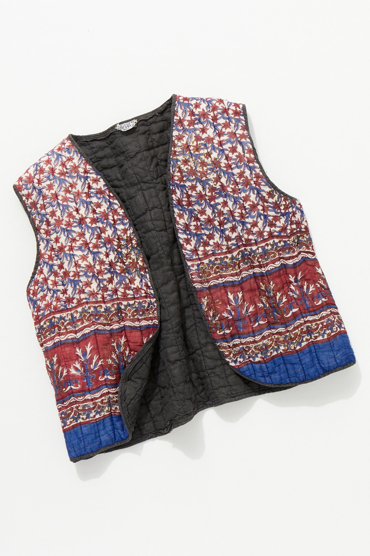 Vintage 1960s Quilted Vest