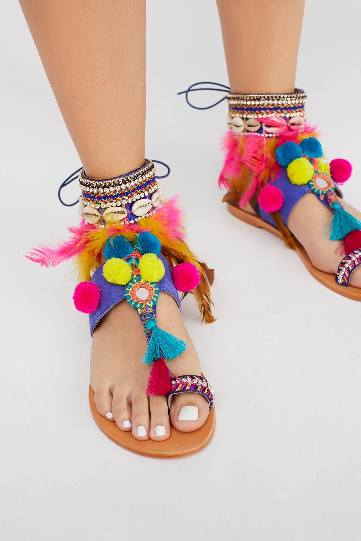 Milos装饰凉鞋