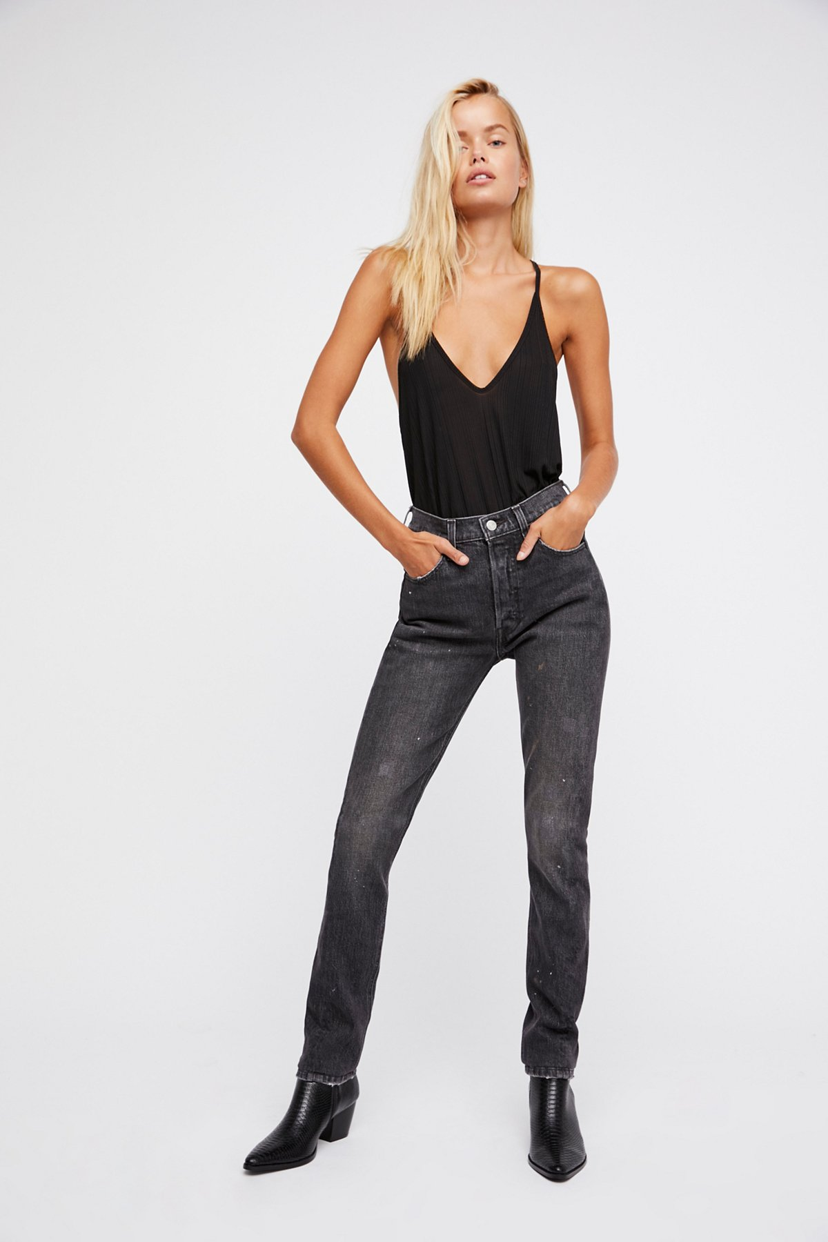 levi 39 s levi 39 s 501 skinny altered jeans at free people clothing boutique. Black Bedroom Furniture Sets. Home Design Ideas
