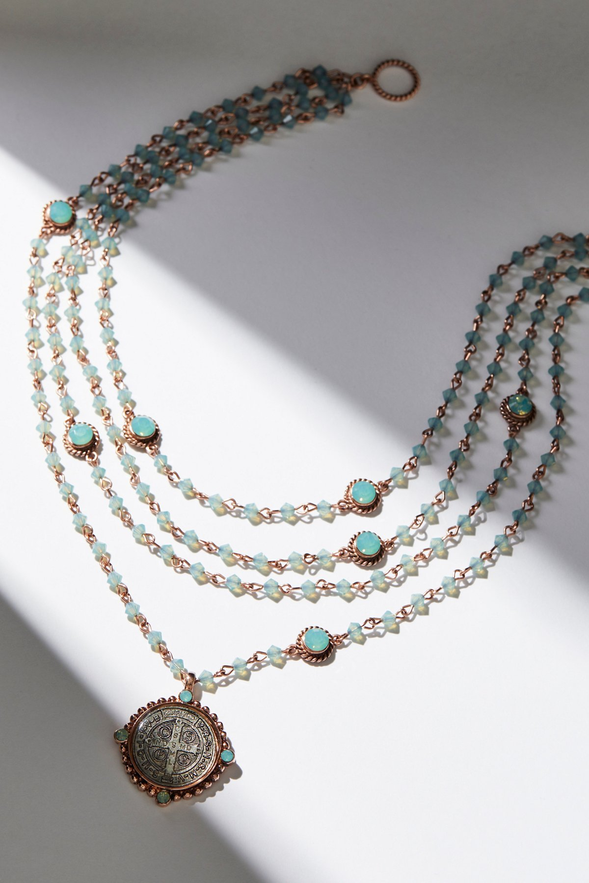San Benito Opal Medallion Necklace