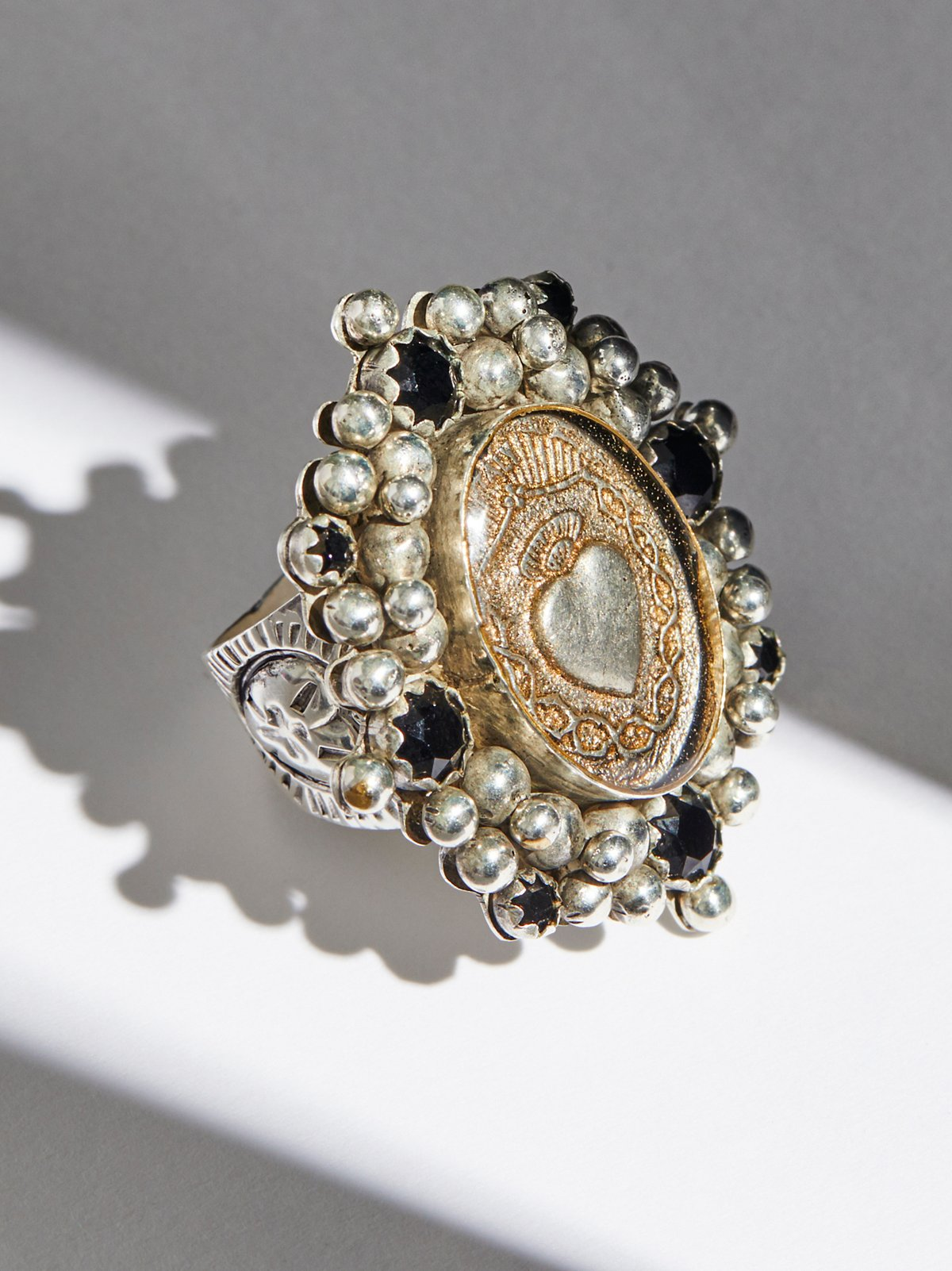 Sacred Heart Crystal Ring