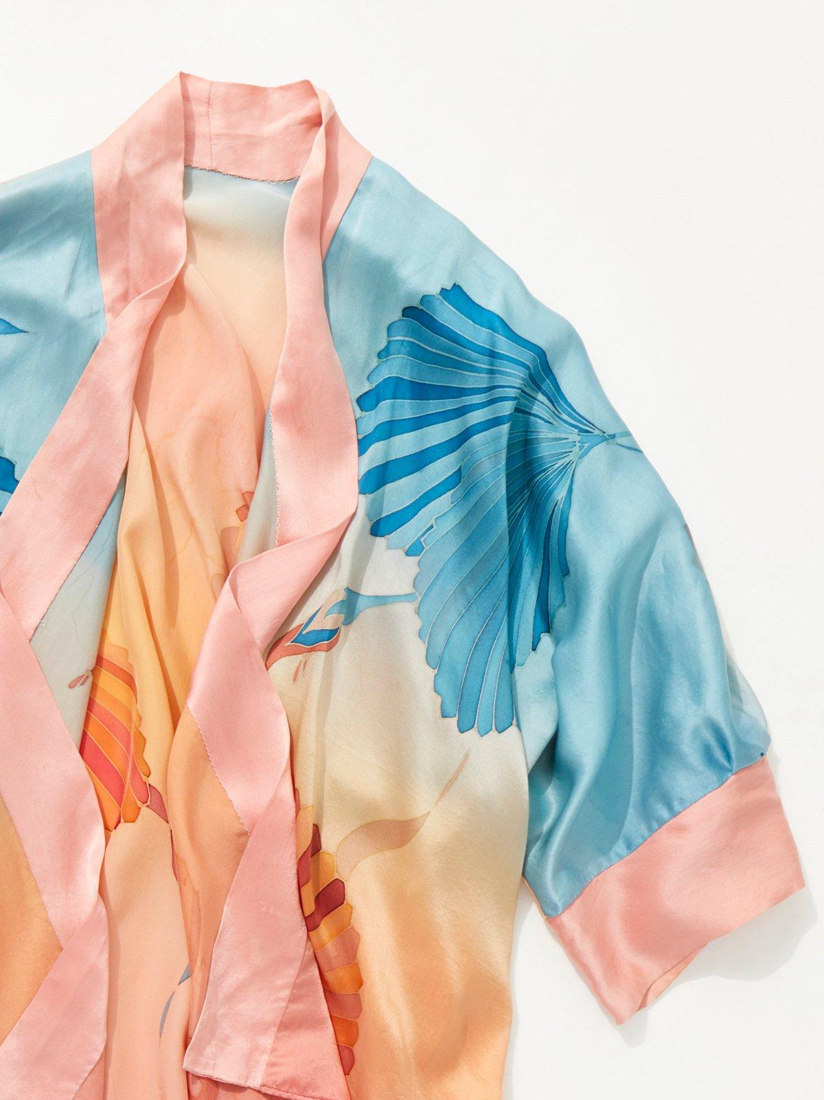 Shop the Vintage 1980s Silk Kimono