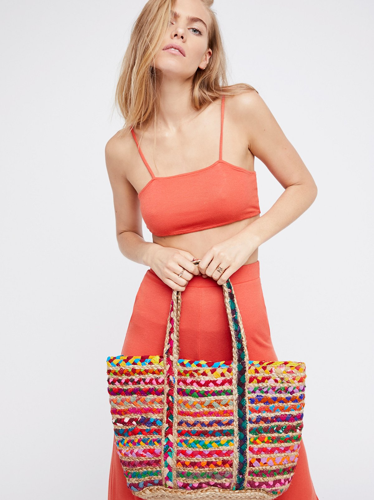Mirage黄麻手提包