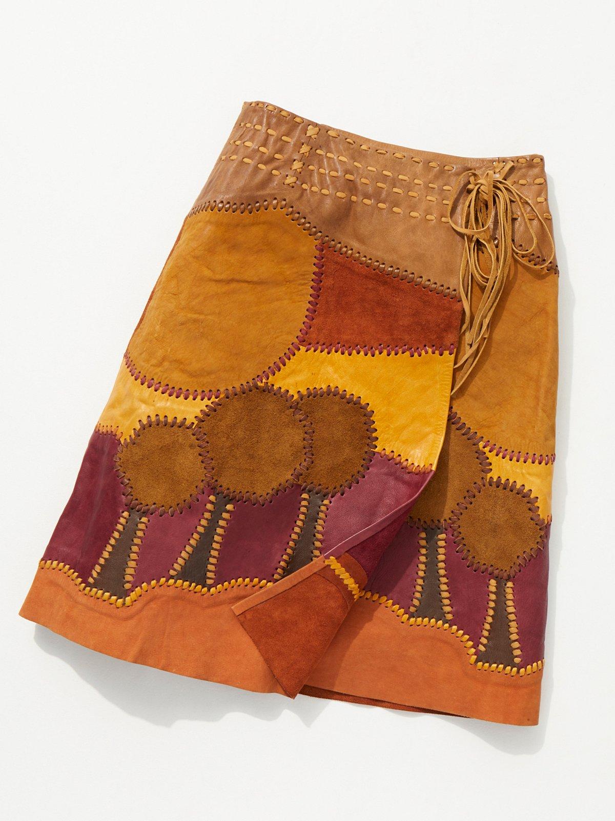 Shop the Vintage 1960s Handmade Suede Patchwork Skirt