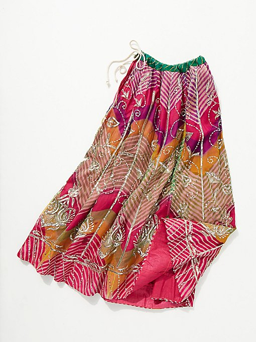 Product Image: Vintage 1970s Beaded Chevron Skirt