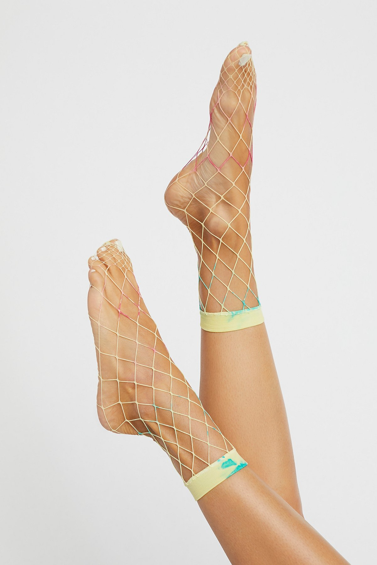 Tie Dye渔网踝袜