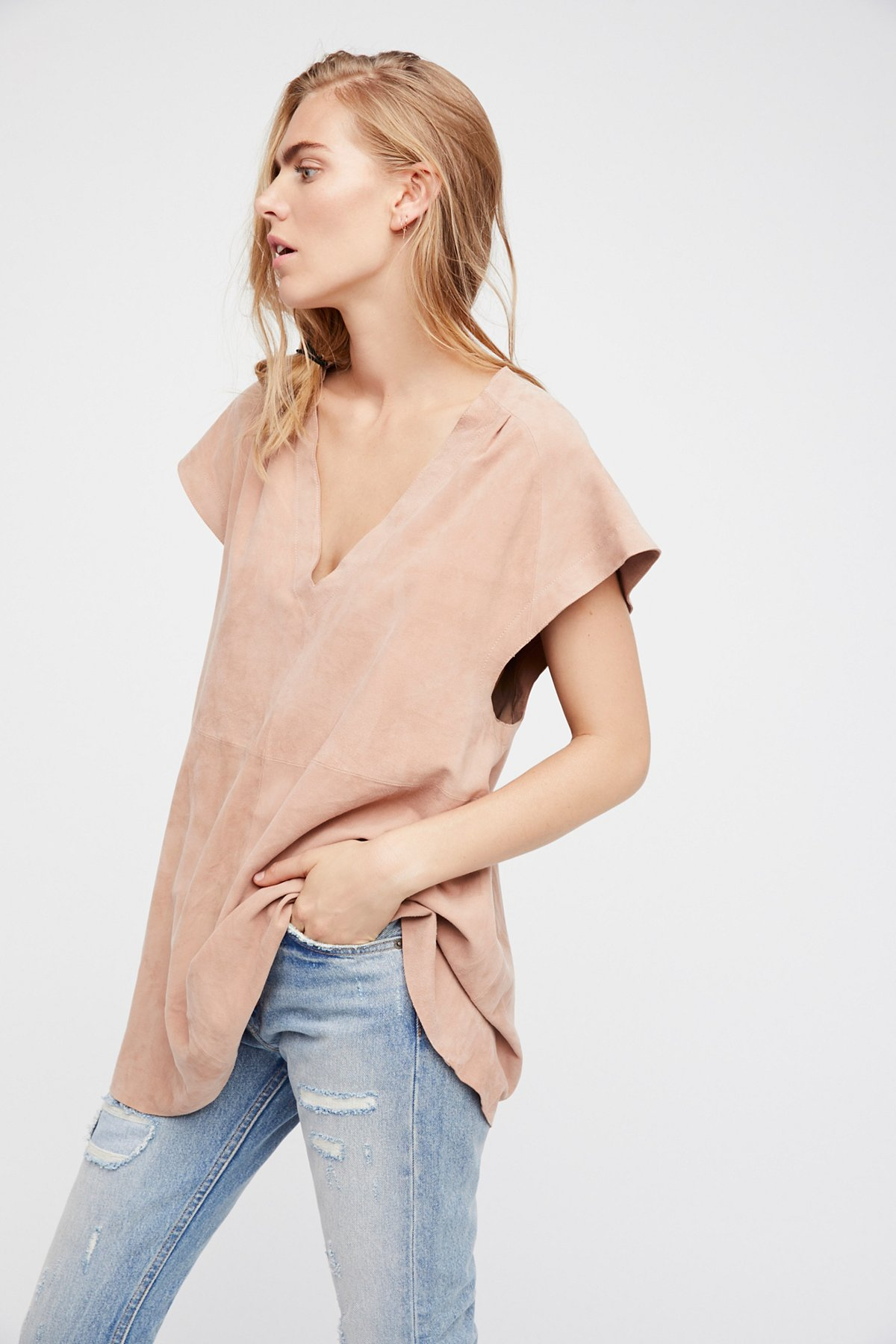 Talk Of The Town Suede Tunic