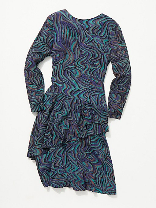 Product Image: Vintage 1960s Asymmetrical Printed Dress