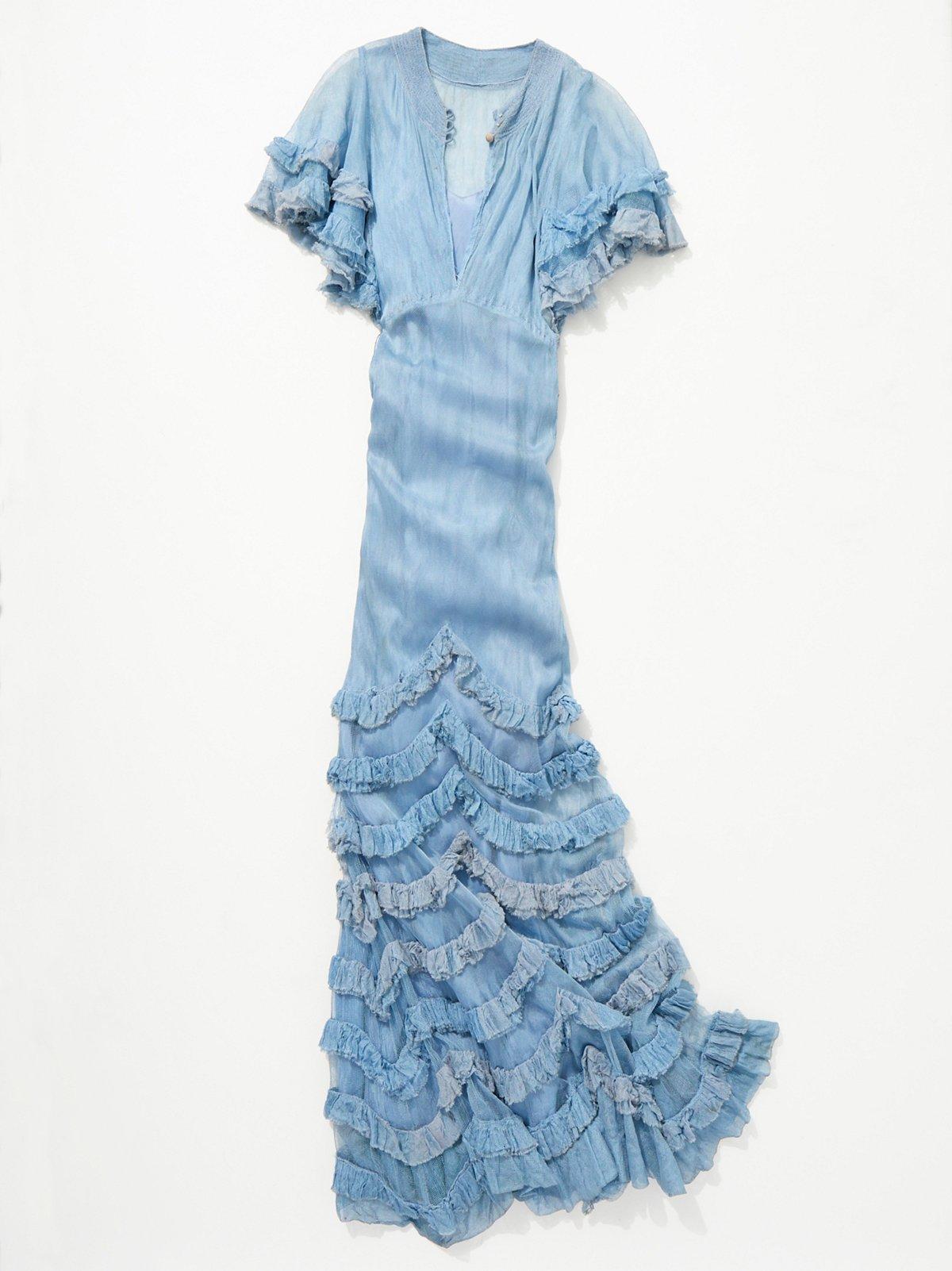 Vintage 1930s Ruffle Net Dress