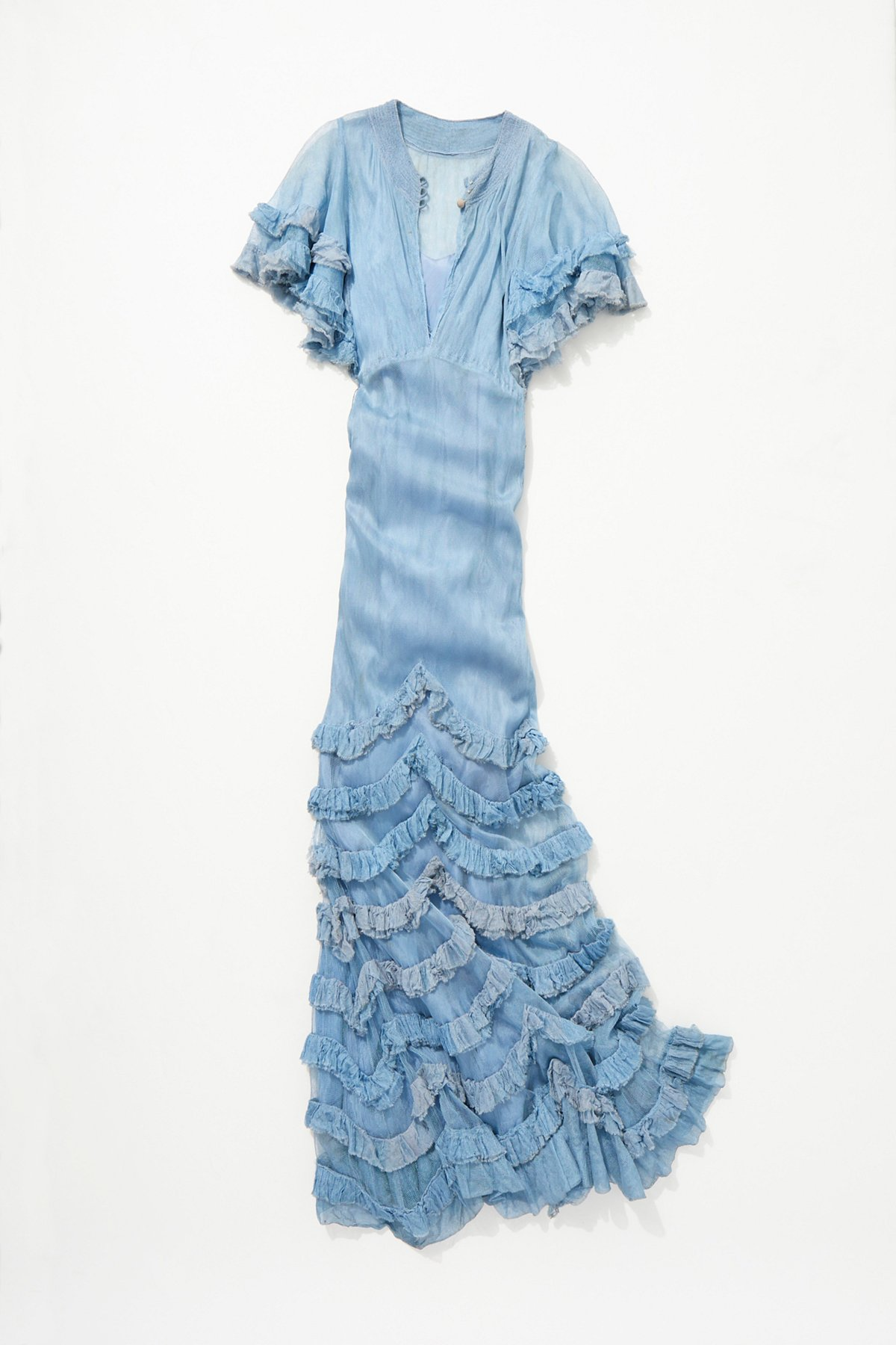 Vintage 1930s Ruffle Net Dress