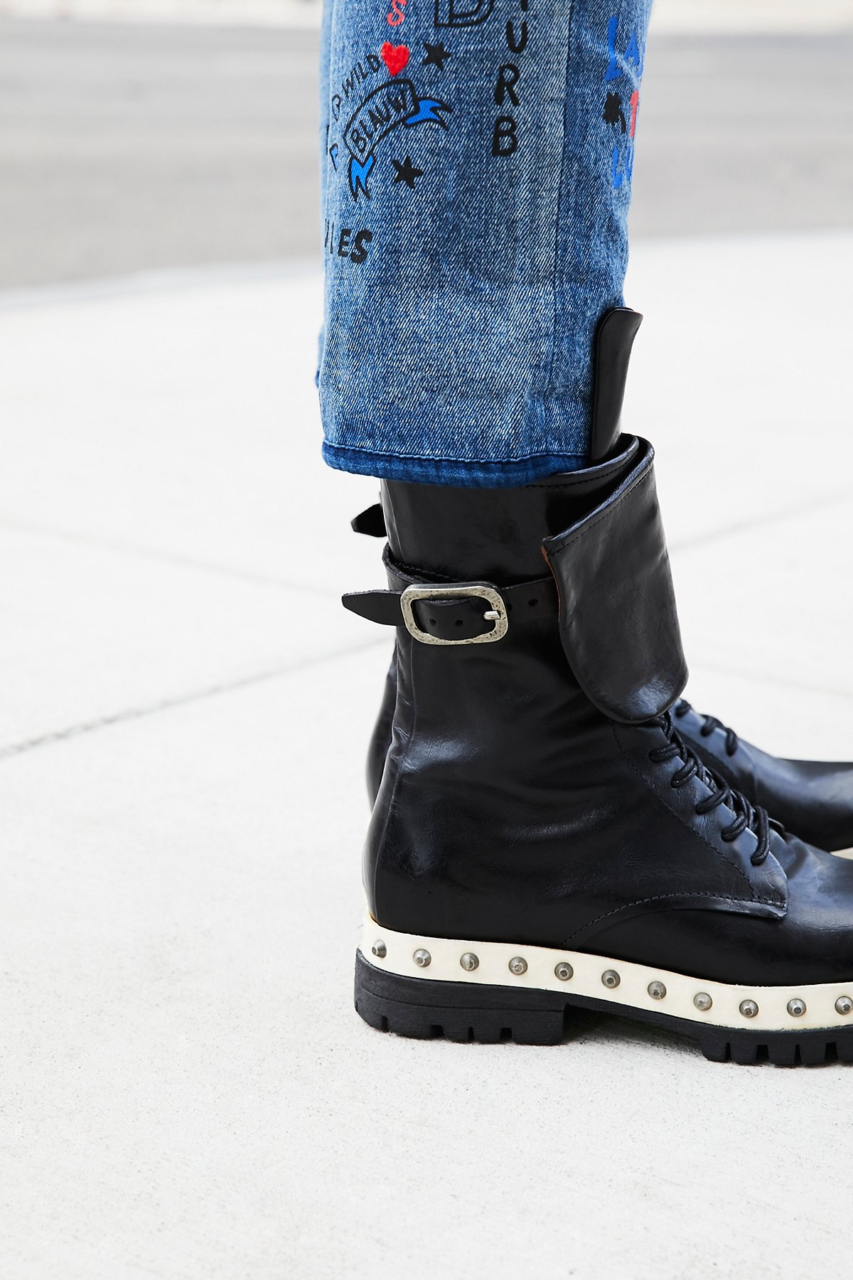 Explorer Leather Lace-Up Boot