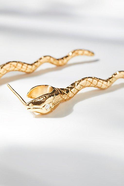 Product Image: Snake Bite Diamond Earrings