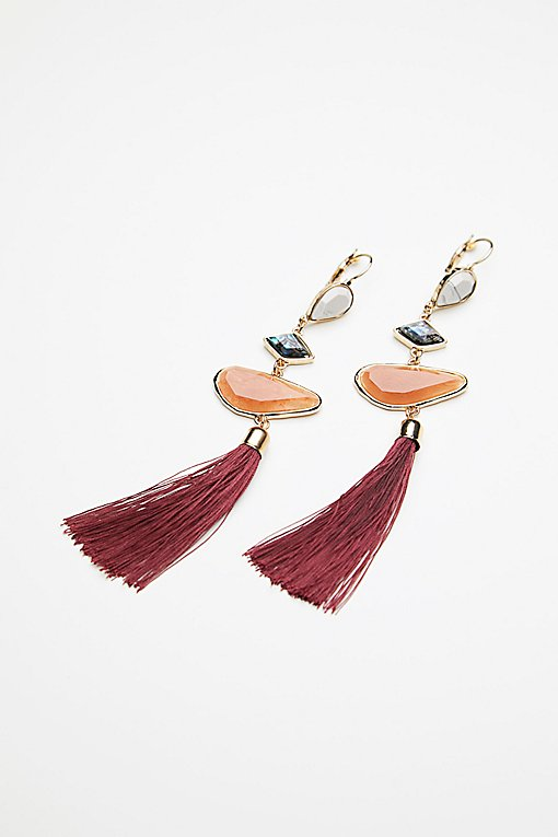 Product Image: Alameda Stone Tassel Earrings