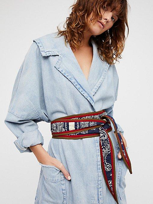 Product Image: Reversible Menswear Obi Belt