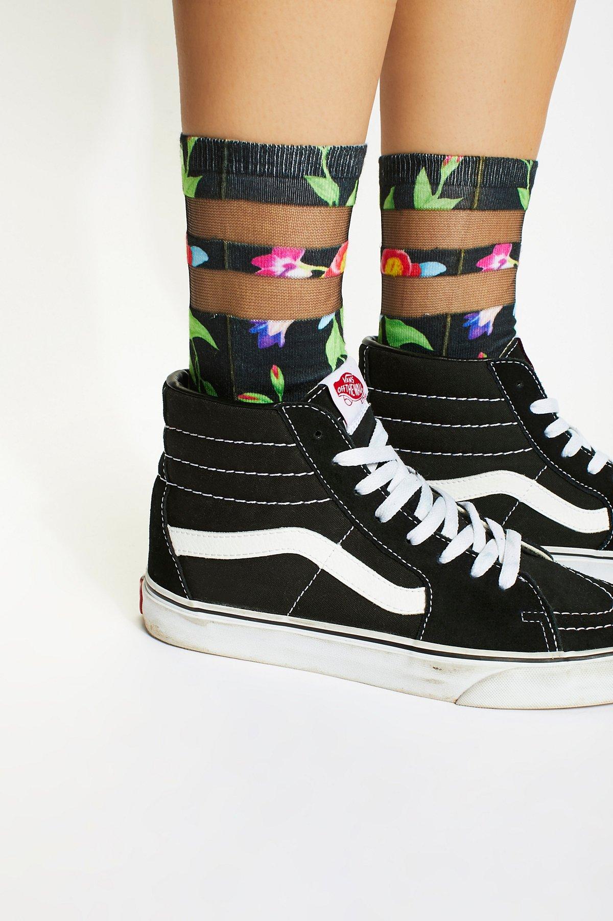Sheer Dreamer Printed Sock