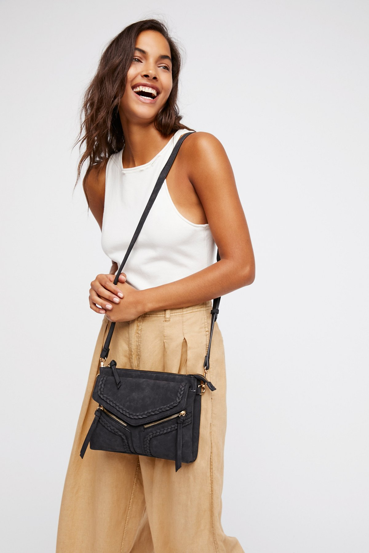Leanna Vegan Braided Crossbody