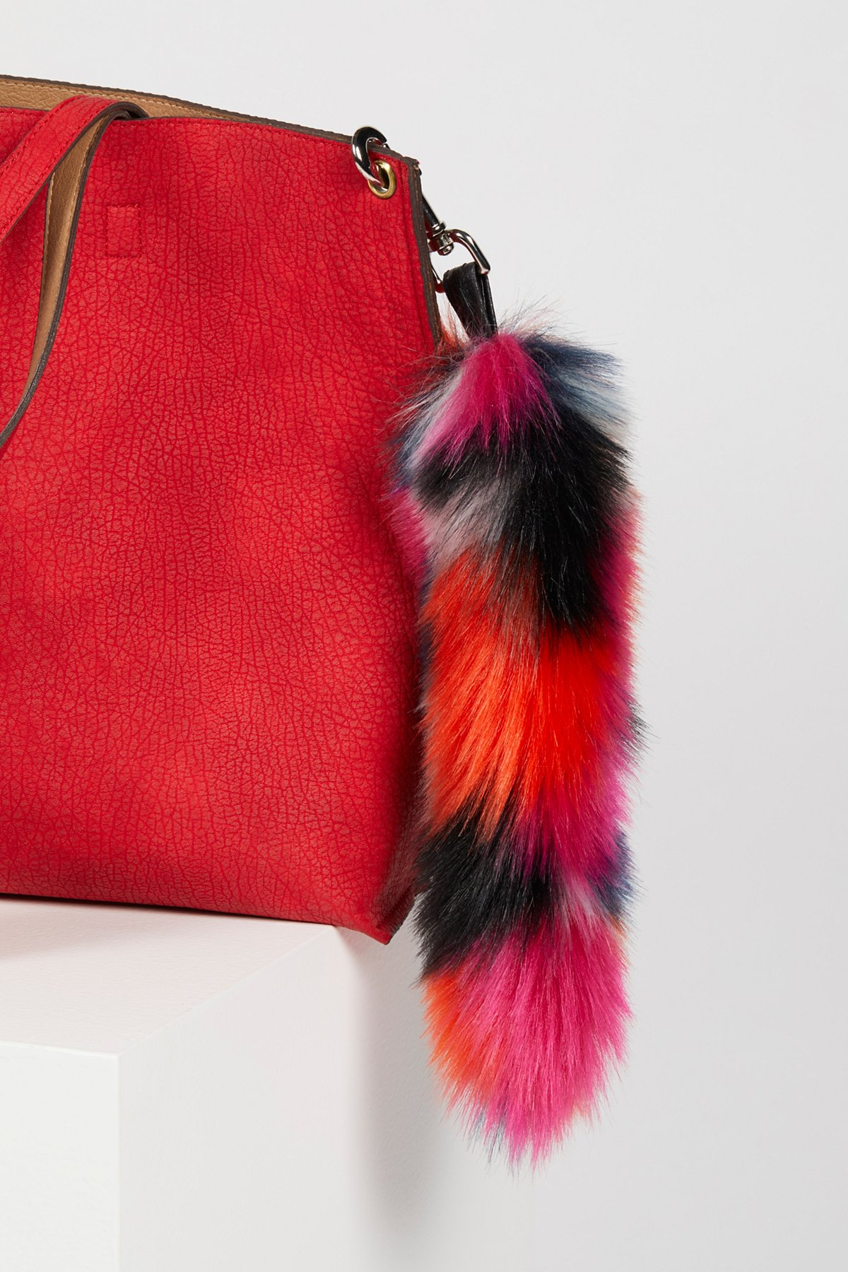 Faux Fur Tail Bag Charm