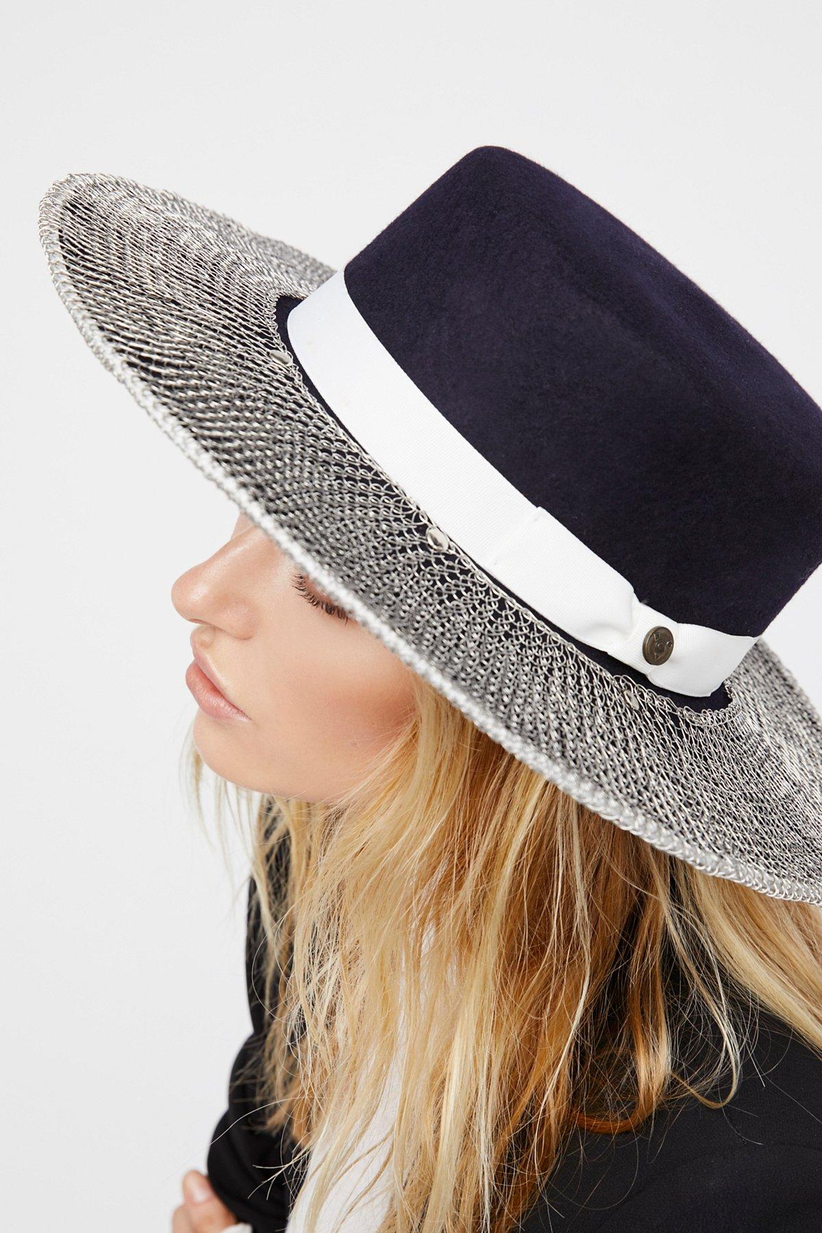 Triptych Metallic Brimmed Hat