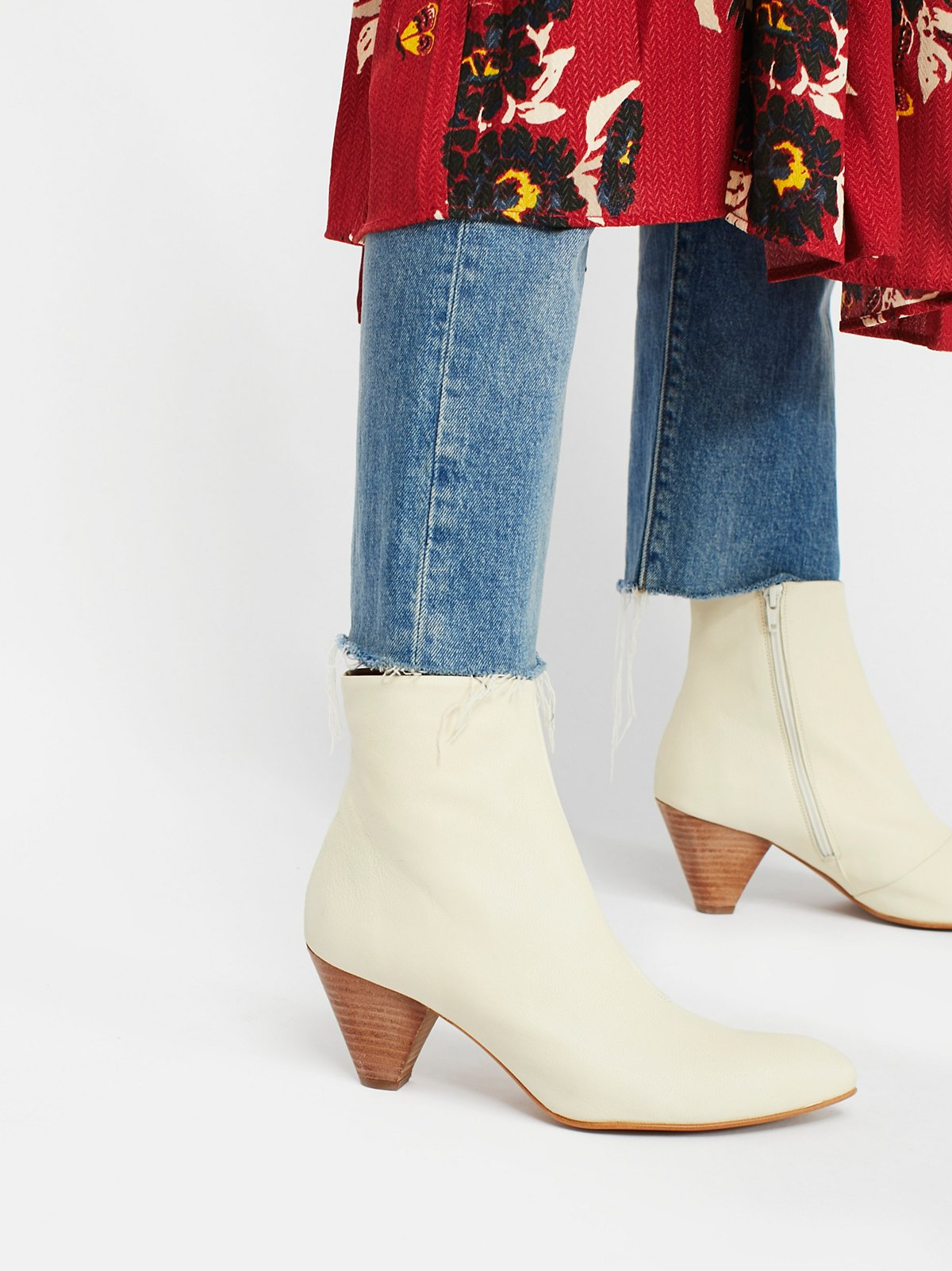 Leather Aspect Heel Boot