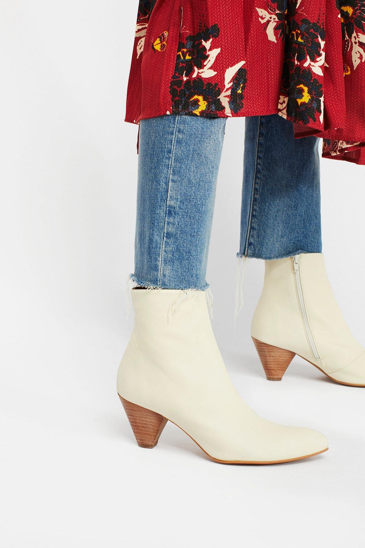 Leather Aspect Heel Boot