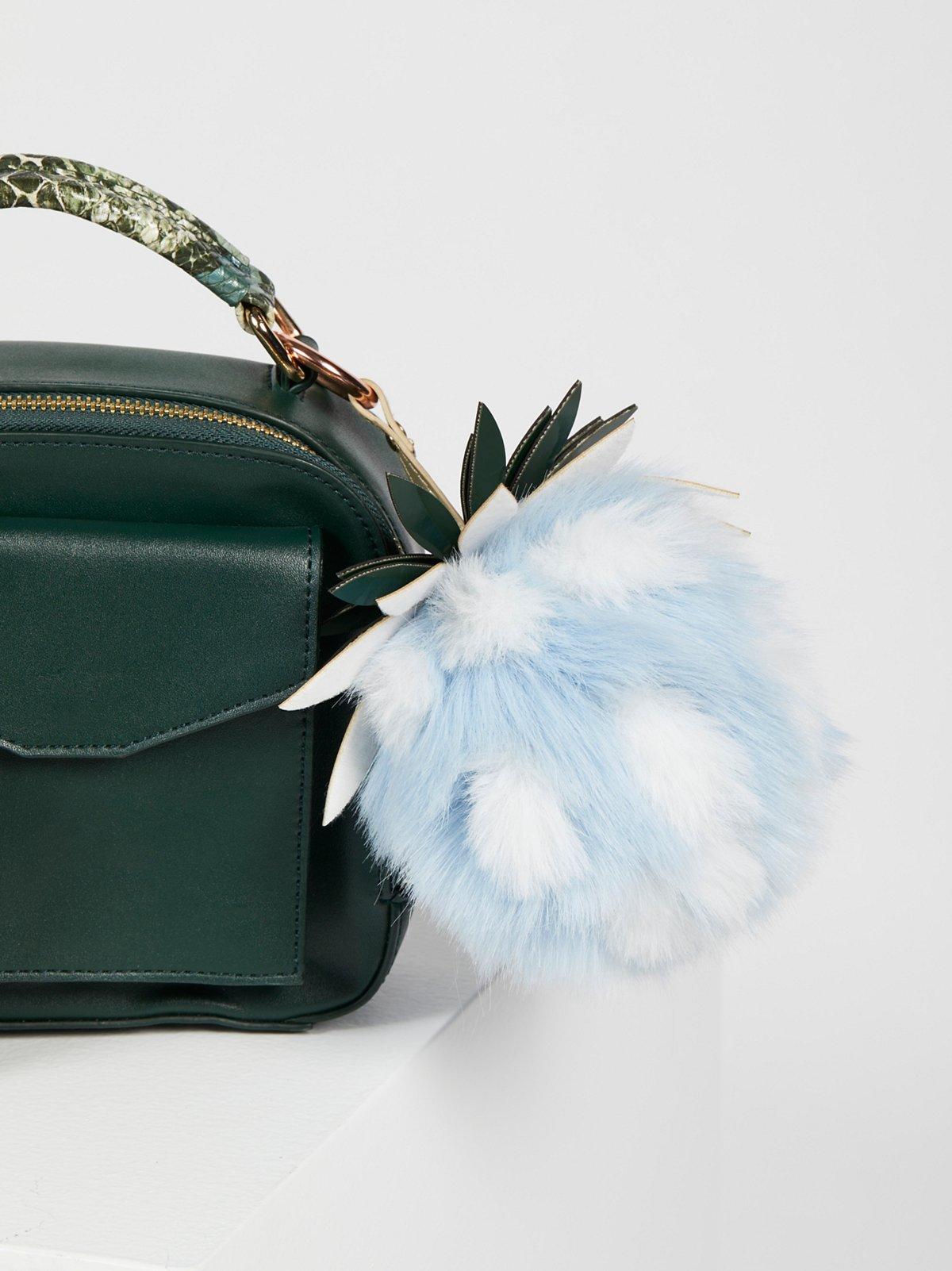 Pineapple Faux Fur Bag Charm