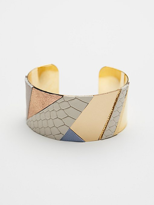 Product Image: Patched Leather Cuff