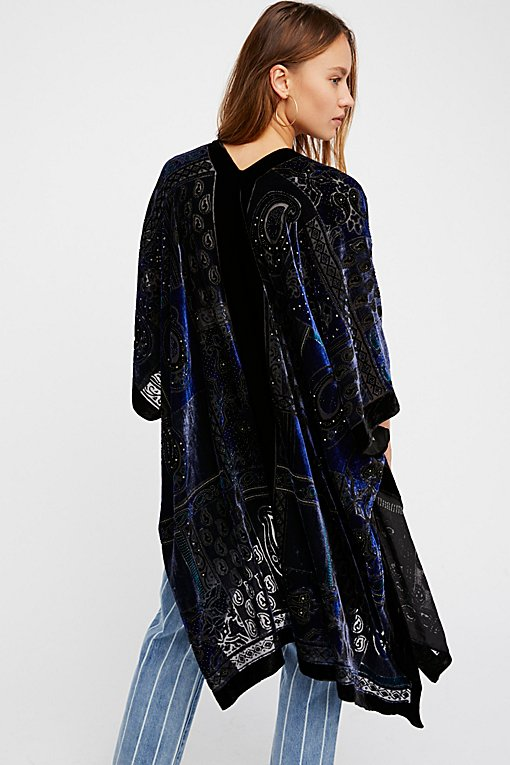 Product Image: Dark Paradise Velvet Kimono