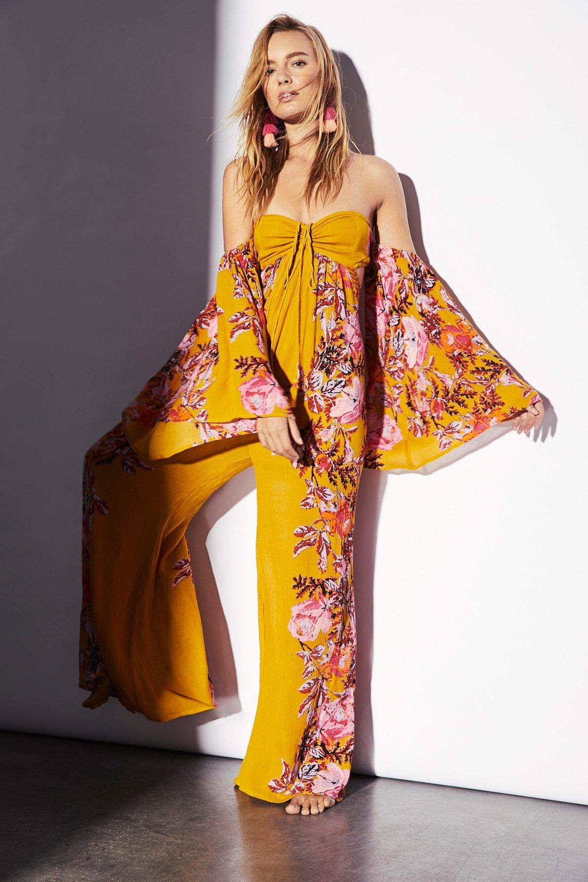 Falling Flowers连体裤