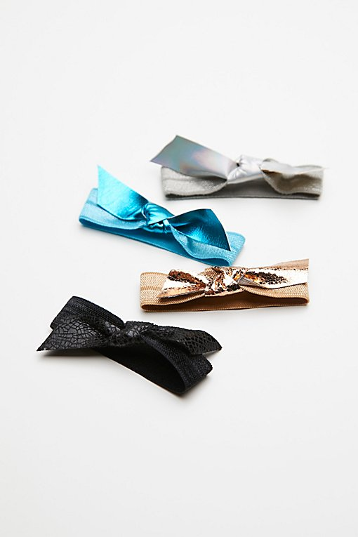 Product Image: Metallic Bow Hair Ties