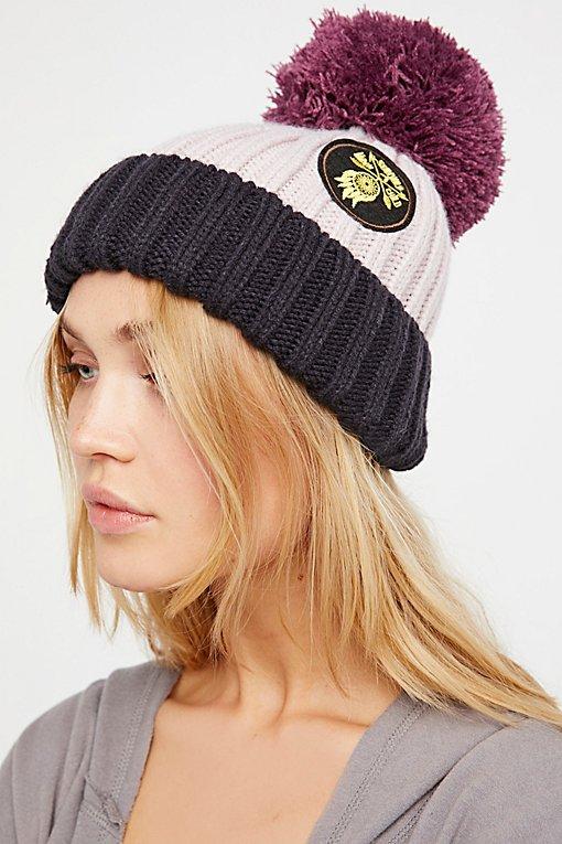 Product Image: Happy Place贴布绒球针织帽