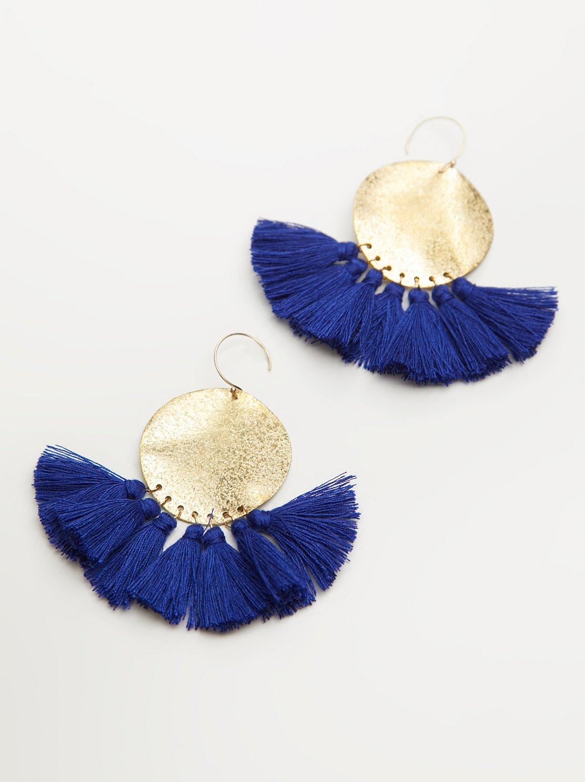 Lunar Rays Tassel Earrings