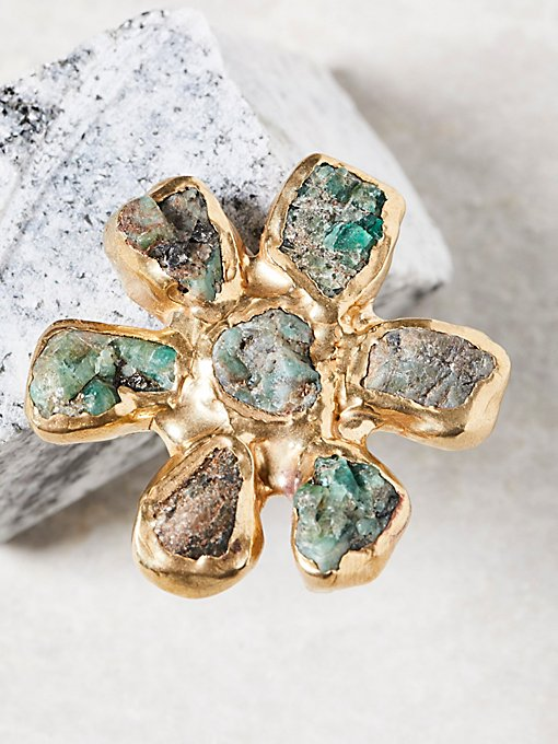 Product Image: Dried Wildflower Stone Ring