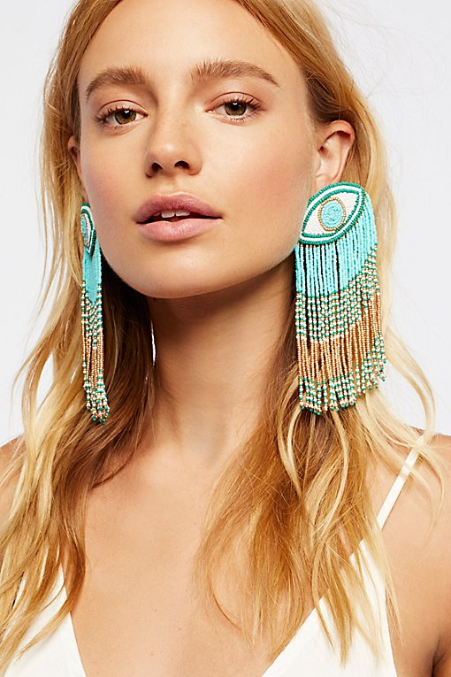 Product Image: Crying Eyes Fringe Earrings