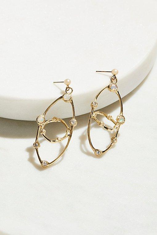 Product Image: 14k Orbit Opal Sapphire Hoops