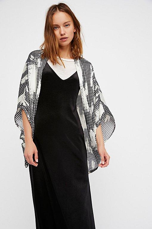 Product Image: Gridlock Washed Herringbone Kimono
