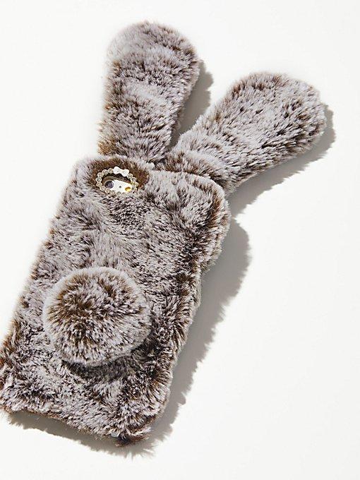 Product Image: 人造毛兔子手机壳