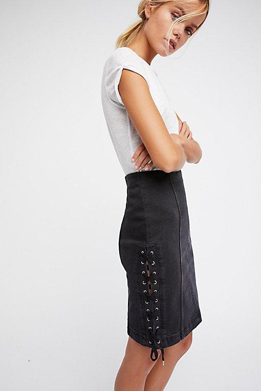 Product Image: 系带牛仔半身裙