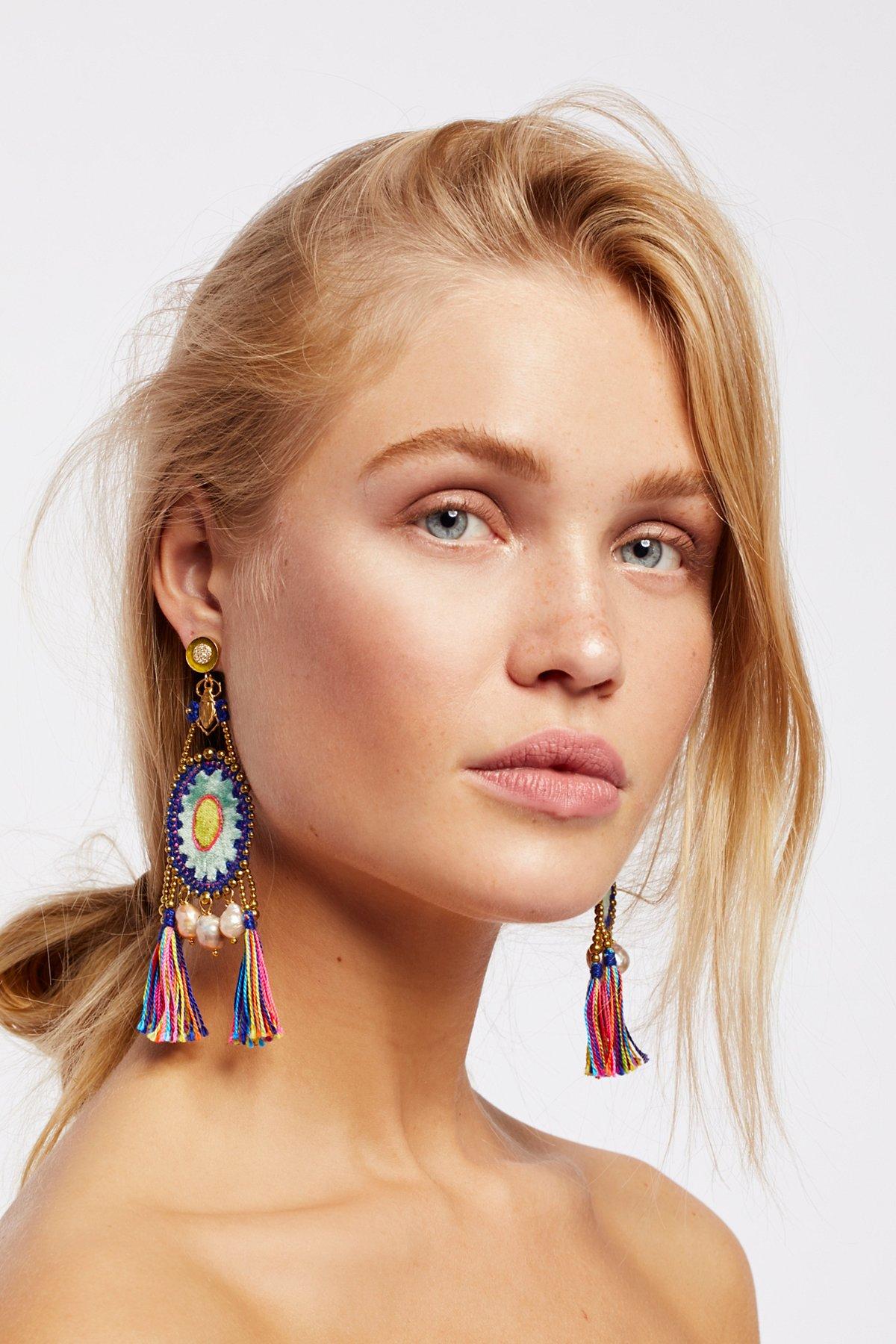 Cosmo Silk Velvet Pearl Earrings